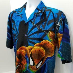 Spider-Man Vintage Changes Button Up Size M Medium